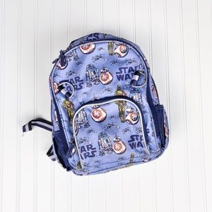 "Potterybarn Kids Star Wars droids 12"" backpack"